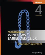 Cover of: Programming Windows Embedded CE 6.0 Developer Reference | Douglas Boling