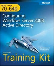 Cover of: MCTS Self-Paced Training Kit (Exam 70-640) by Dan Holme