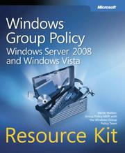 Cover of: Windows group policy resource kit | Derek Melber