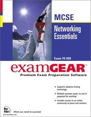 Cover of: Networking Essentials McSe Examgear (New Riders Exam Gear) by New Riders Development