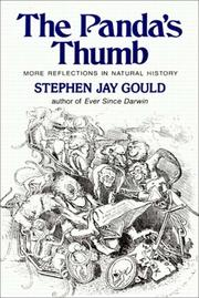 Cover of: The Panda's Thumb by Stephen Jay Gould