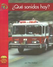 Cover of: Que Sonidos Hay?/ What Kind of Sound? by Vita Jimenez