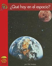 Cover of: Que Hay En El Espacio?/ What is in Space? by Vita Jimenez