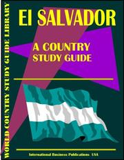 Cover of: El Salvador by Inc. Global Investment & Business Center