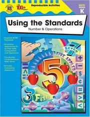 Cover of: Using the Standards--Number and Operations, Grade K | Becky Daniel