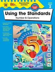 Cover of: Using the Standards--Number and Operations, Grade 2 | Becky Daniel