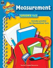 Cover of: Measurement Grades 1-2 (Mathematics) | IN-HOUSE