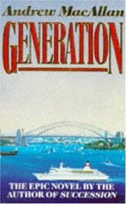 Cover of: Generation | Andrew MacAllan