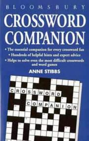 Cover of: Crossword Companion by Anne Stibbs