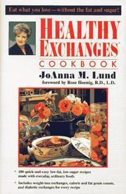 Cover of: Healthy Exchanges Cookbook | JoAnna M. Lund