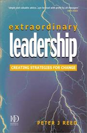 Cover of: Extraordinary Leadership by Peter J. Reed