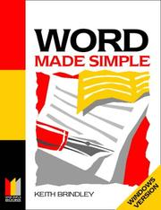 Cover of: Word for Windows Made Simple (Computing Made Simple) | Keith Brindley
