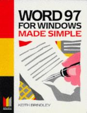 Cover of: Word 97 for Windows Made Simple by Keith Brindley