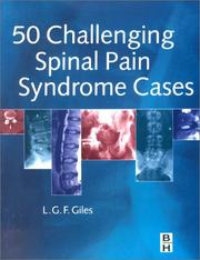 Cover of: 50 Challenging Spinal Pain Syndrome Cases | Lynton Giles