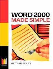 Cover of: Word 2000 Made Simple | Keith Brindley