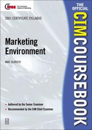 Cover of: CIM Coursebook 01/02 Marketing Environment (CIM Coursebook) | Mike Oldroyd