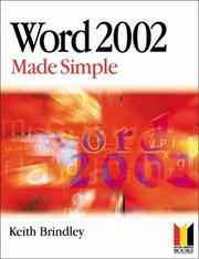Cover of: Word 2002 Made Simple | Keith Brindley