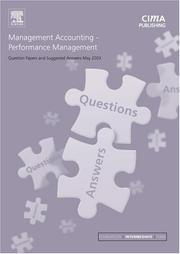 Cover of: Management Accounting Performance Management May 2003 Exam Questions and Answers (CIMA May 2003 Q&As) | CIMA