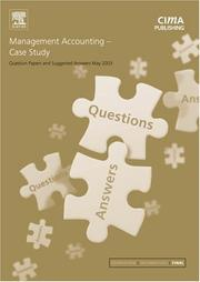 Cover of: Management Accounting Case Study May 2003 Exam Questions & Answers (CIMA May 2003 Q&As) | CIMA