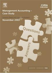Cover of: Management Accounting- Case Study November 2003 Exam Q&As (CIMA November 2003 Q&As) | CIMA