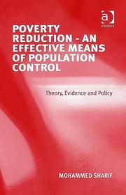 Cover of: Poverty Reduction - an Effective Means of Population Control | Mohammed Sharif