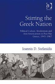 Cover of: Stirring the Greek Nation by Ioannis D. Stefanidis