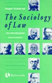 Cover of: The sociology of law by Roger Cotterrell