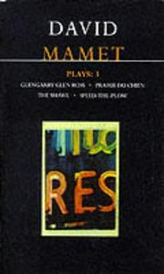 Cover of: Plays | David Mamet