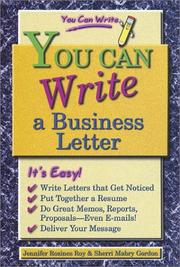 Cover of: You Can Write a Business Letter (You Can Write) | Sherri Mabry Gordon