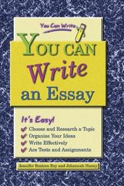 Cover of: You Can Write an Essay (You Can Write) by Johannah Haney