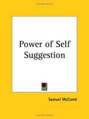 Cover of: Power of Self Suggestion by Samuel McComb