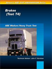 Cover of: ASE Test Prep Series -- Medium/Heavy Duty Truck (T4) by Delmar Publishers