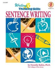 Cover of: Sentence Writing by Good Apple