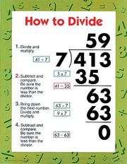How to Divide (Multiplication and Division Chart Pack) | Open Library