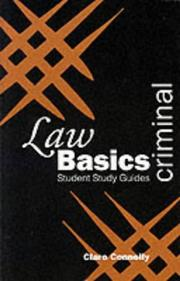 Cover of: Criminal Law Basics (Green's Law Basics) by Claire Connelly