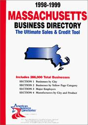 Cover of: 1999-2000 Massachusetts Business Directory | infoUSA Inc.