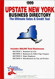 Cover of: 1999 New York (Upstate) Business Directory: The Ultimate Sales and Credit Tool (Upstate New York Business Directory) | infoUSA Inc.