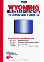 Cover of: 1999 Wyoming Business Directory | infoUSA Inc.