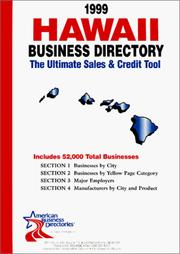 Cover of: 1999 Hawaii Business Directory | infoUSA Inc.
