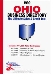 Cover of: 1999 Ohio Business Directory | infoUSA Inc.