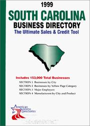 Cover of: South Carolina Business Directory (South Carolina Business Directory, 1999) | infoUSA Inc.
