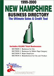 Cover of: New Hampshir Business Directory (New Hampshire Business Directory, 1999) | infoUSA Inc.