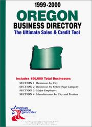 Cover of: Oregon Business Directory (Oregon Business Directory, 1999-2000) | infoUSA Inc.