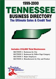 Cover of: 1999-2000 Tennessee Business Directory | infoUSA Inc.
