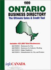 Cover of: 1999 Ontario Business Directory | infoUSA Inc.