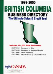 Cover of: 1999-2000 British Columbia Business Directory | infoUSA Inc.