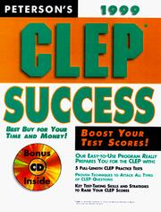 Cover of: Peterson's Clep Success by Petersons