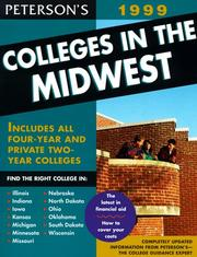 Cover of: Peterson's Colleges in the Midwest 1999 by Petersons