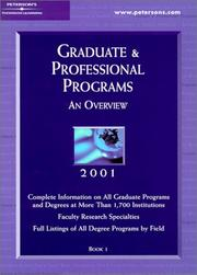 Cover of: Peterson's Graduate & Professional Programs | Peterson's
