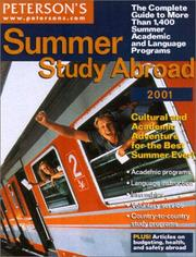 Cover of: Peterson's Summer Study Abroad 2001 (Short Term Study Programs Abroad) by Peterson's